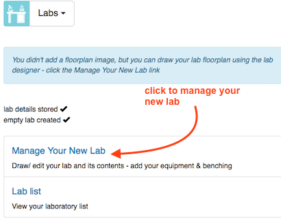 manage new lab